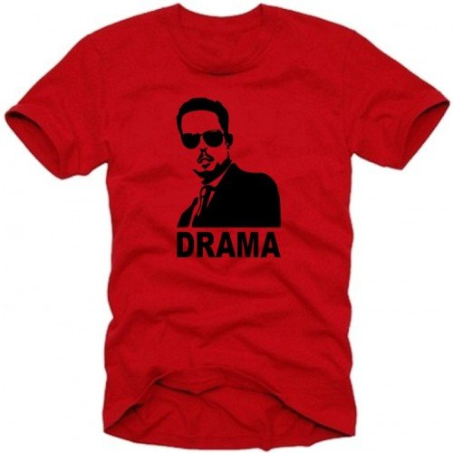 Drame – T-Shirt vers. Couleurs S – XXXL Small Rouge