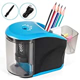 Electric Pencil Sharpener, INVOKER Auto Pencil Sharpeners Heavy Duty Helical Blade for No.2/Colored