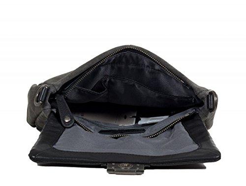 FREDsBRUDER Schokolina borsa a tracolla pelle 24 cm Black