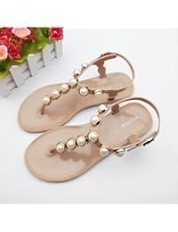 RUGAI-UE Moda de Verano Mujer sandalias casuales zapatos de tacones PU  Confort 801ea88a3c3c