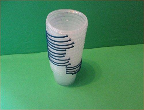 Eimer mit Deckel Kunststoffeimer klar Transparent 20 Eimer 0.5 Liter Klar Eimer