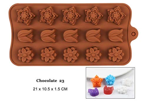 FTFSY Silicone Chocolate Mold 29 Shapes Chocolate Baking Tools Non-Stick Silicone Cake Mold Jelly and Candy Mold 3D Mold,Chocolate 23 23 Chocolate Mold