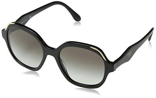 Prada Damen 0PR06US 1AB0A7 52 Sonnenbrille, Schwarz (Black/Grey),