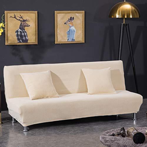 Futon Sofa Couch Bett (XZ Sofabezug Ohne Armlehnen, Elastisch Sofaüberwurf Armlose Couch Ausdehnungs Hussen Universal Polyester Spandex Stoff Futon Schutz Passt Falten Sofa Bett,2,S)