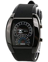 LEORX Reloj LED deportivo - coche Dashboard diseño resistente al agua reloj (negro)