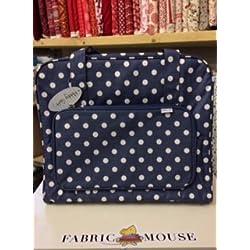 Máquina de coser bolsa (mate PVC)–Denim | de lunares, Hobby regalo mr4660/271| 20x 43x 37cm