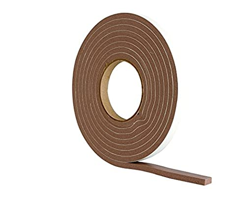 Extra Thick Draught Excluder Strip (3.5m Brown Rubber Foam for gaps 4-7mm)