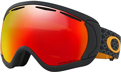 Oakley Canopy Asian Fit Snow Goggles, Skygger Black/Orange Frame, Prizm Torch Iridium Lens, Large