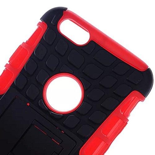 iPhone 6S Case, Lantier Preuve cas de couches de conception robuste Heavy Duty Double goutte avec béquille pour Apple iPhone 6S Case / iPhone de 6 Case - 4,7 pouces Case Motif de Spider Web Noir Spider Web Pattern Black