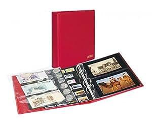 Album Universal PUBLICA M COLOR pour cartes postales, photos [Lindner S3540PK] Avec 10 feuilles plastiques, utilisables recto-verso, Couleur: Berry (rouge)