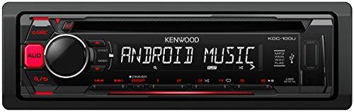 Kenwood 12 Subwoofer (Kenwood KDC-100UR Autoradio USB/CD-Receiver mit Tastenbeleuchtung rot/schwarz)