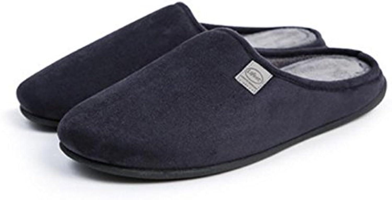 Zapatillas de algodón para el hogar de interior zapatos de algodón mudo suave cálido comodidad masculina invierno...