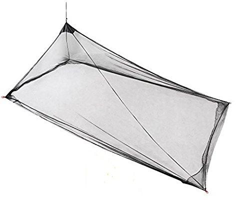 Zag Commerce Moskitonetz, Einzel- und Doppelgröße, hängende Pyramidenform, für drinnen und draußen, kompakt und leicht - Schwarz