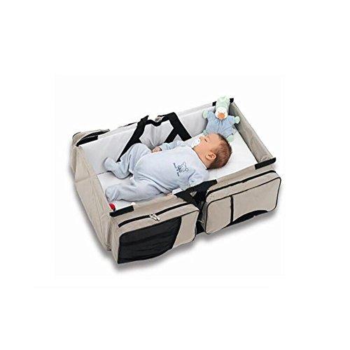 Togather® Multifunzionale bambino portatile pieghevole Navicella Culla mummia Viaggi Borsa - Diaper Bag - Viaggi culla - Stazione Change - Crema (Grigio)