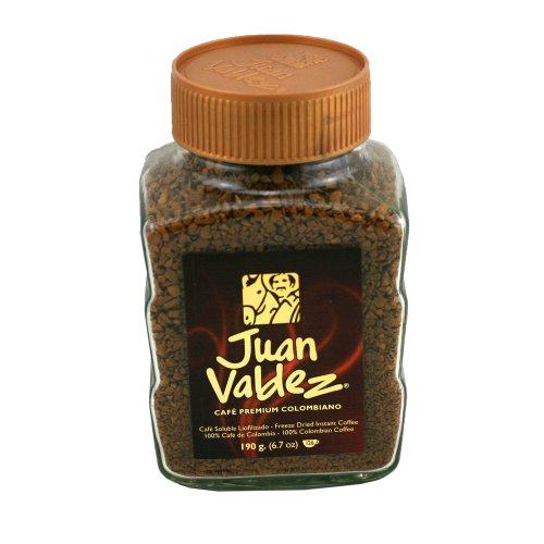 Juan Valdez, normal gefriergetrockneter Instant-Kaffee, 190g Jar