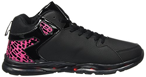 KangaROOS K-Lev VI Hi, Sneaker a Collo Alto Unisex-Adulto Schwarz (Jet Black/Blossom Pink)