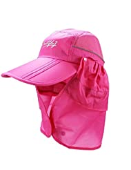 Outdoor UPF 50+ Protection Wide Visor Fishing Hat Breathable Quickly Dry with Removable Sun Shield Mask