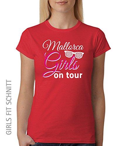 ::: MALLORCA GIRLS ON TOUR ::: Girls T-Shirt ::: auch im Unisex Schnitt Rot