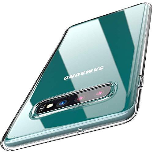 Asenzat Crystal Clear Hülle kompatibel mit Galaxy S10 - Transparent Slim weiche Flexible Silikon Hülle (Anti Gelb) Handyhülle   Bumper Transparente Schutzhülle mit Kameraschutz Durchsichtig/Klar Klare Schutzhülle