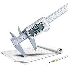 Turquía 150 mm / 6 pulgadas Vernier Caliper LCD Digital electrónico de fibra de carbono calibre micrometro regla herramienta de medición pulgadas/métrica/fracción