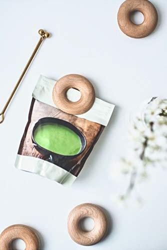 anaan Donuts Mollette Alimenti Clip di Tenuta/Portacandele in faggio Legno Set di 5 Sacchetti di Chiusura Clips di sigillamento per Sacchetto di caffè Chiudi Sacchetti segnalibro Design