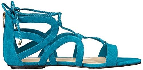 Marc Fisher Kapre Wildleder Gladiator Sandale Medium Blue