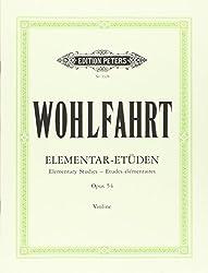40 études élémentaires Opus 54 - violon - Peters