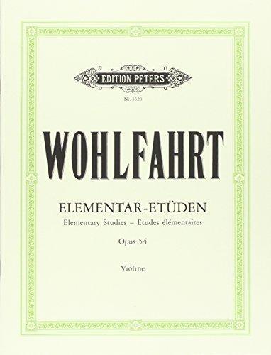 40 Elementar-Etüden für Violine solo op. 54