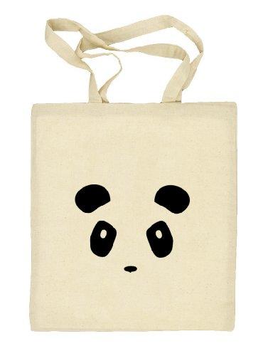 Shirtstreet24, PANDA FACE, Panda Gesicht Stoffbeutel Jute Tasche (ONE SIZE) Natur