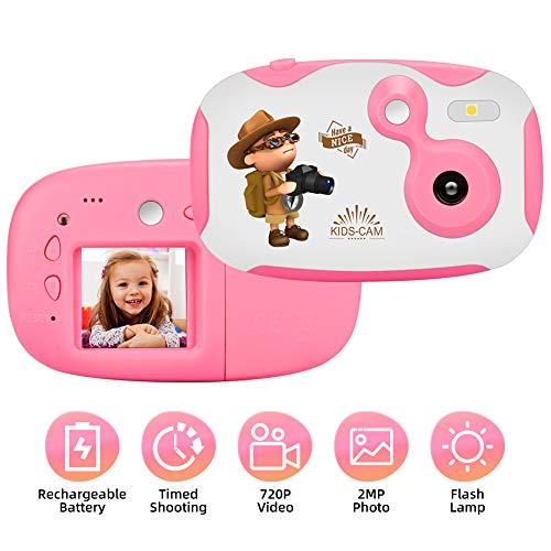 Appareil Photo Enfants Caméra pour Enfants Appareil Photo Numérique Enfant avec 1,44 Pouces Ecran HD Filles Cadeaux Cadeaux d'anniversaire