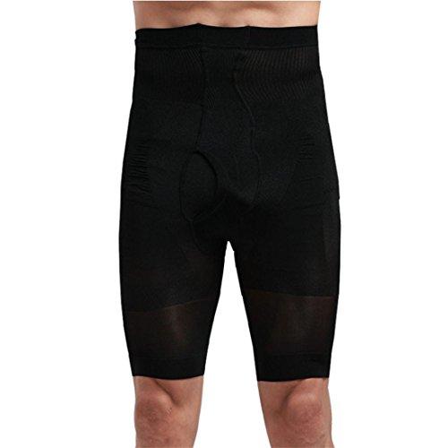 Shapewear Bodysuit Herren Hose Btruely Männer Fett Verbrennung Schlank Gestalten Sport Unterwäsche (M, Schwarz)