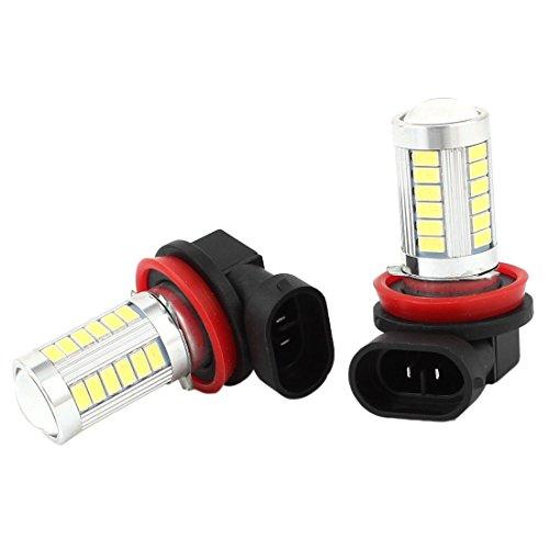 sourcing map Lot de 2 X H11 Lampe Ampoule Bulb Blanc 5630 SMD 84 LEDs, Van et Camion Inversion Feux de freinage
