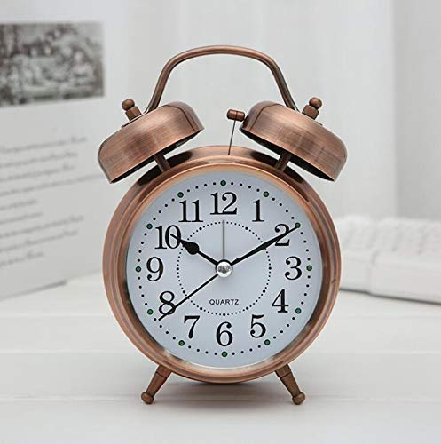 Changda Efinito Gifts Twin Bell Table Alarm Clock With Night Led Display , 5 Inches