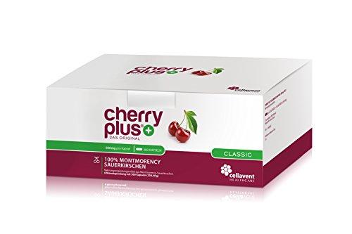 Cellavent Healthcare Cherry PLUS - Das Original: 100% naturreiner und hochkonzentrierter Montmorency-Sauerkirschen Extrakt / 360 Kapseln