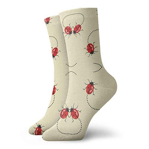 ouyjian Lady Bugs On The Move Unisex Novelty Crew Length Funny Socks-Colorful Funky Socks for Men&Women- Cotton Fashion Patterned (Großhandel Womens Kleider)
