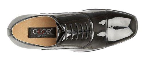 Goor, Scarpe stringate uomo Nero (black patent)