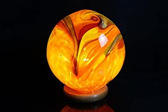 kugellampe aus glas leuchtkugel orange beleuchtung. Black Bedroom Furniture Sets. Home Design Ideas