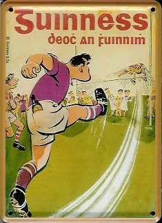 Guinness mini plaque reklamewelt footballer en irlande original - 8