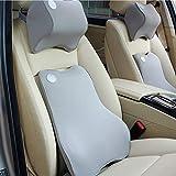 Oyamihin Space Memory Foam Auto Taille Kissen Sommer Auto Lendenwirbelsäule Kissen Taille Kissen Sitz Zurück Automotive Sicherheitsprodukte - Kaffee