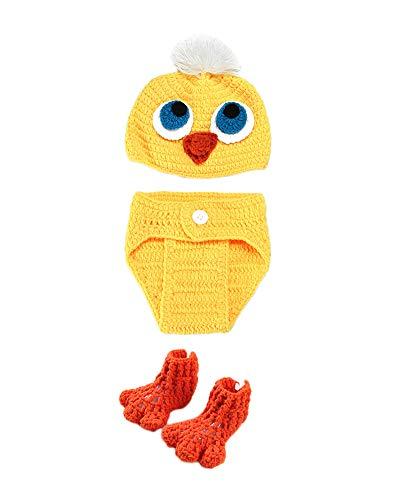 Kinder Baby Strick Mütze Küken Fotoshooting Neugeborene Muster Design Hut Kostüm Hüte Gelb