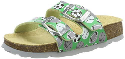 Superfit Jungen Fussbettpantoffel_8-00111-00 Pantoffeln, Grün (Grün 70), 39 EU