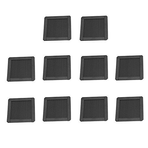 Yibuy PC Computer Magnetverschluss Feines Fan Filter Mesh Sieb 8x8x0.2cm/3.15x3.15x0.08inch (LxWxH) 8 Sieb