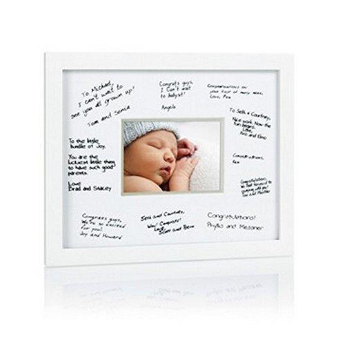 Pearhead 85013 Signature Frame Deluxe, Bilderrahmen für Glückwunschsignaturen, wei