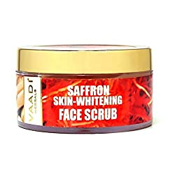 Vaadi Herbals Saffron Skin Whitening Face Scrub, Walnut Scrub and Cinnamon Oil, 50g
