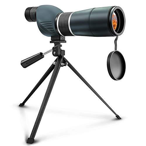 Cannocchiale telescopio, SGODDE 15 - 45 x Zoom 60S impermeabile singolo tubo del telescopio monoculare HD con treppiedi e Softcase Digiscoping adattatore