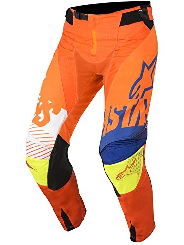 Alpinestars Hose Kinder MX 2018 Racer Screamer arancio-blu-bianco (22 = 56 cm Kinder, Orange)