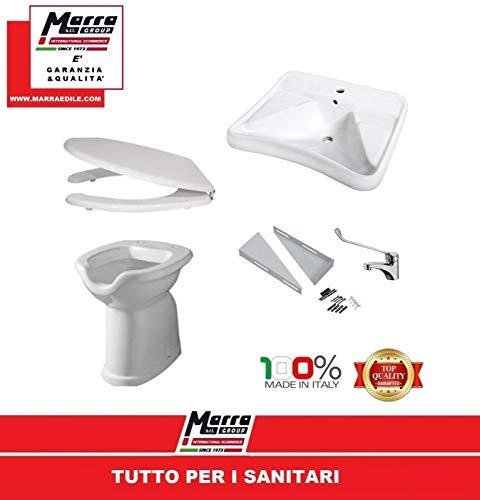 Marra edile disabili kit disabile bagno wc vaso sedile lavabo staffe rubinetto lavandino marragroup