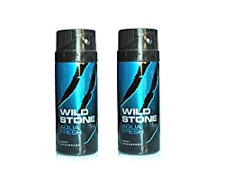 Wild Stone Aqua Deodorant For Men 150 ML (Pack of 2)