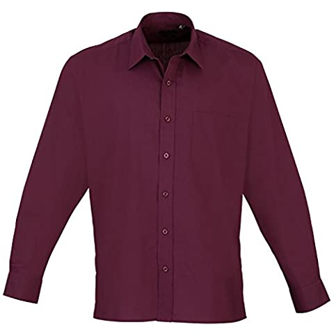 Premier - Chemise à manches longues - Homme (Tour de cou 47cm) (Aubergine)
