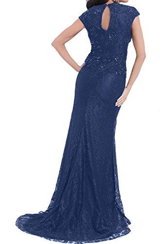 TOSKANA BRAUT Elegant Neu Navy Spitze Mermaid Mutterkleider Lang 2017 V-Neck Abendkleider Partykleid Navy